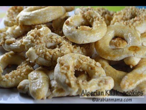 Algerian kaak cookies algerian algerian kaak easy middle eastern and arabic recipes that appeals to everyones taste forumfinder Images