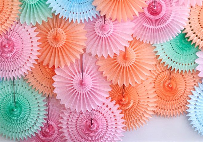 How To Make Paper Fan Party Decorations | Flisol Home