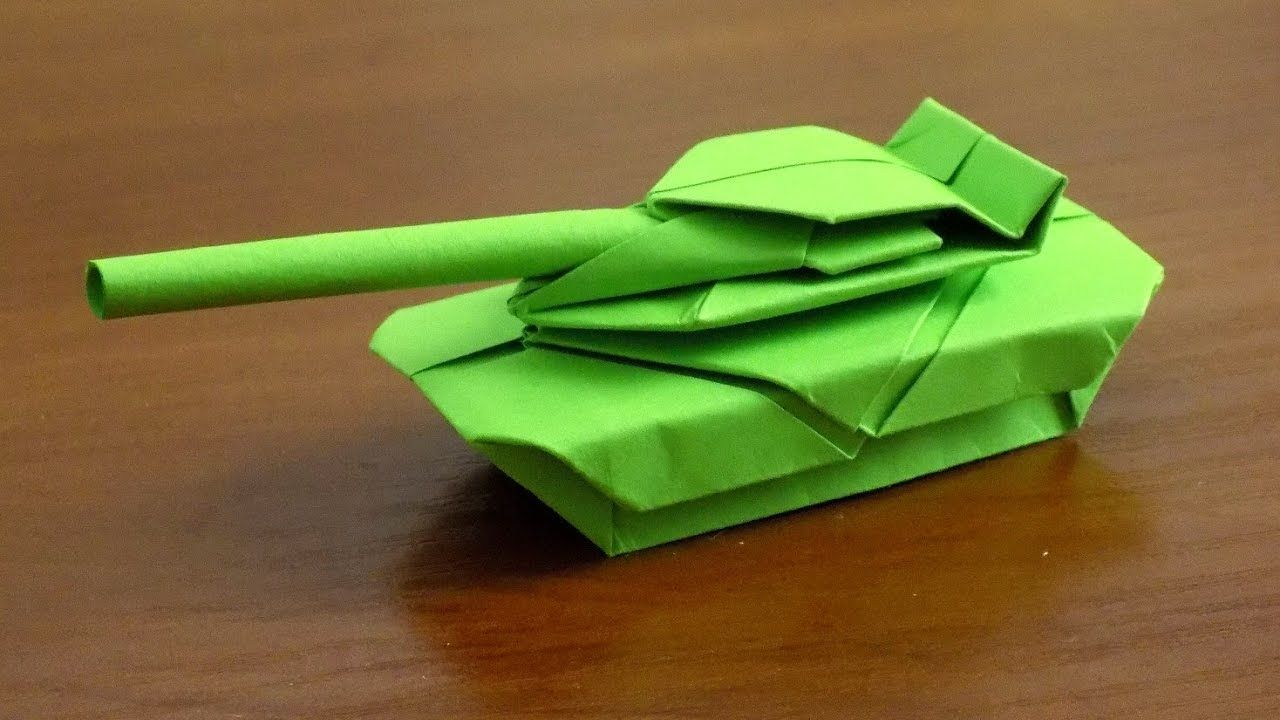How to make origami tank toy step by step DIY instructions | How ... | 720x1280