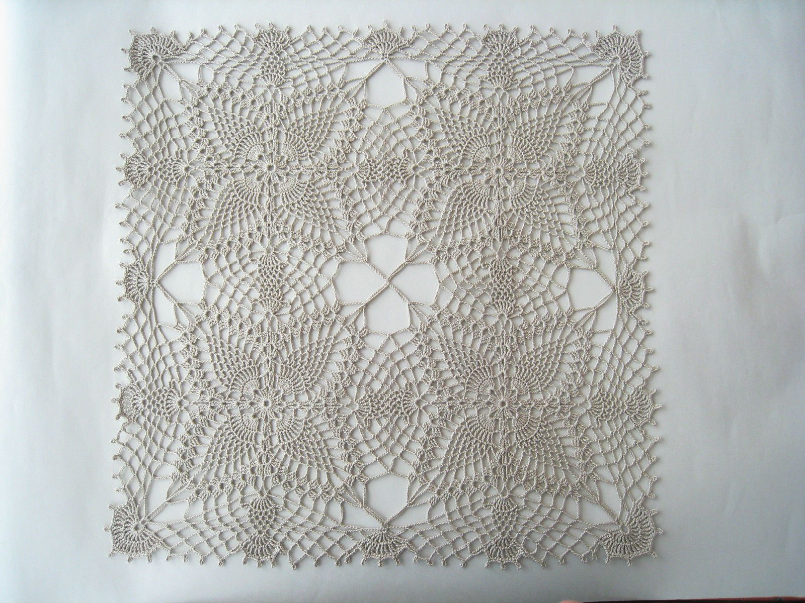 Crochet Square Lace Tablecloth Color Linen Table Topper Flower Motif