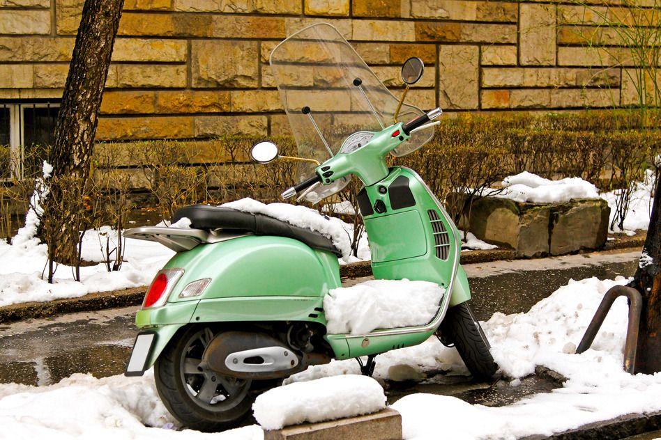 Consejo: mantener tu moto aparcada en invierno