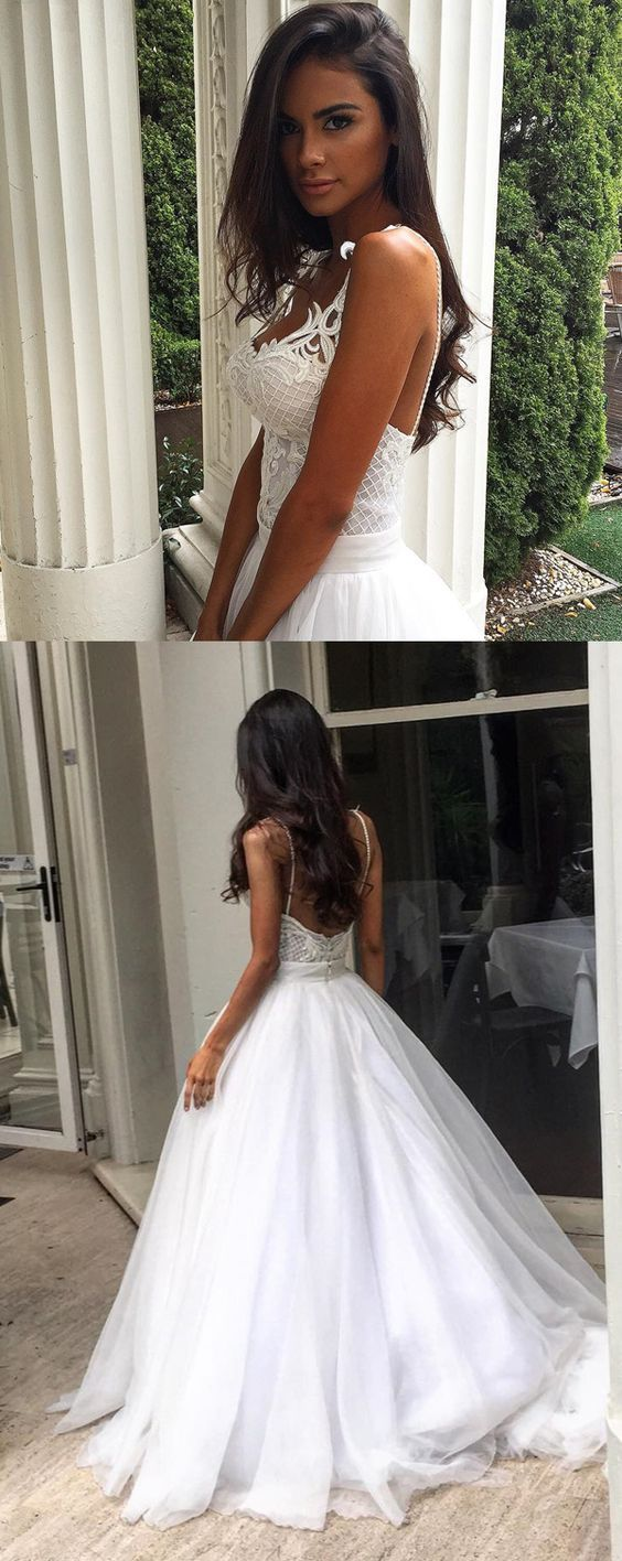 Ball gown wedding dress with sweetheart backless sweep train m