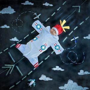 Bennett the Bomber Plane Newborn Costume Set - 355828 | trendyhalloween.com
