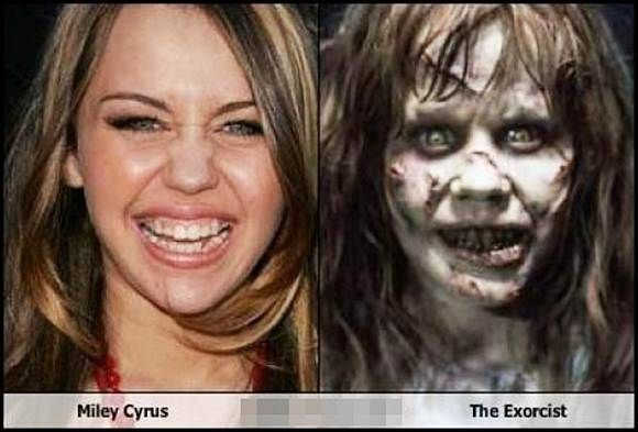 miley cyrus and scary girl from scary maze game look alike xd