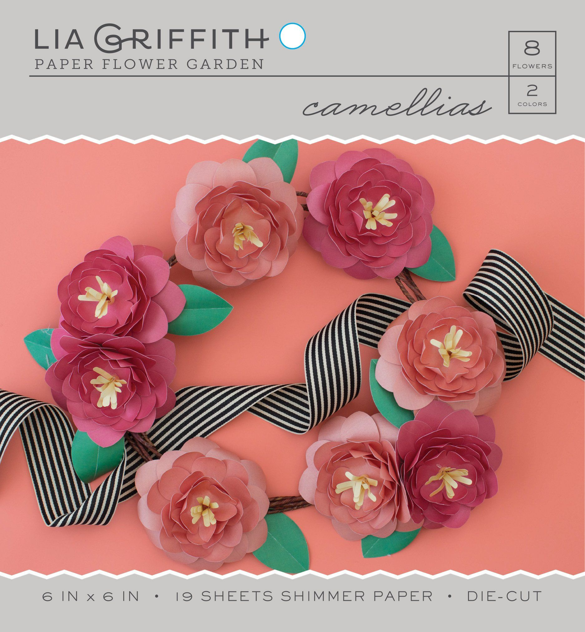 Camellia Frosted Paper Flower Kits Products Paper Flowers