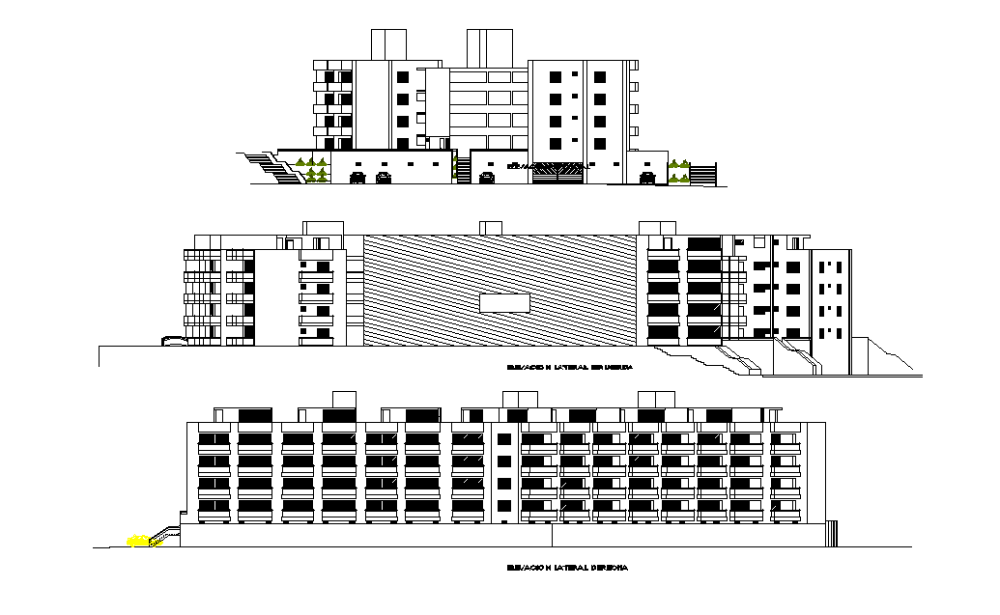 Front elevation and lateral elevation is given in this 2D Auotcad DWG drawing file Download the 2D Autocad DWG drawing file