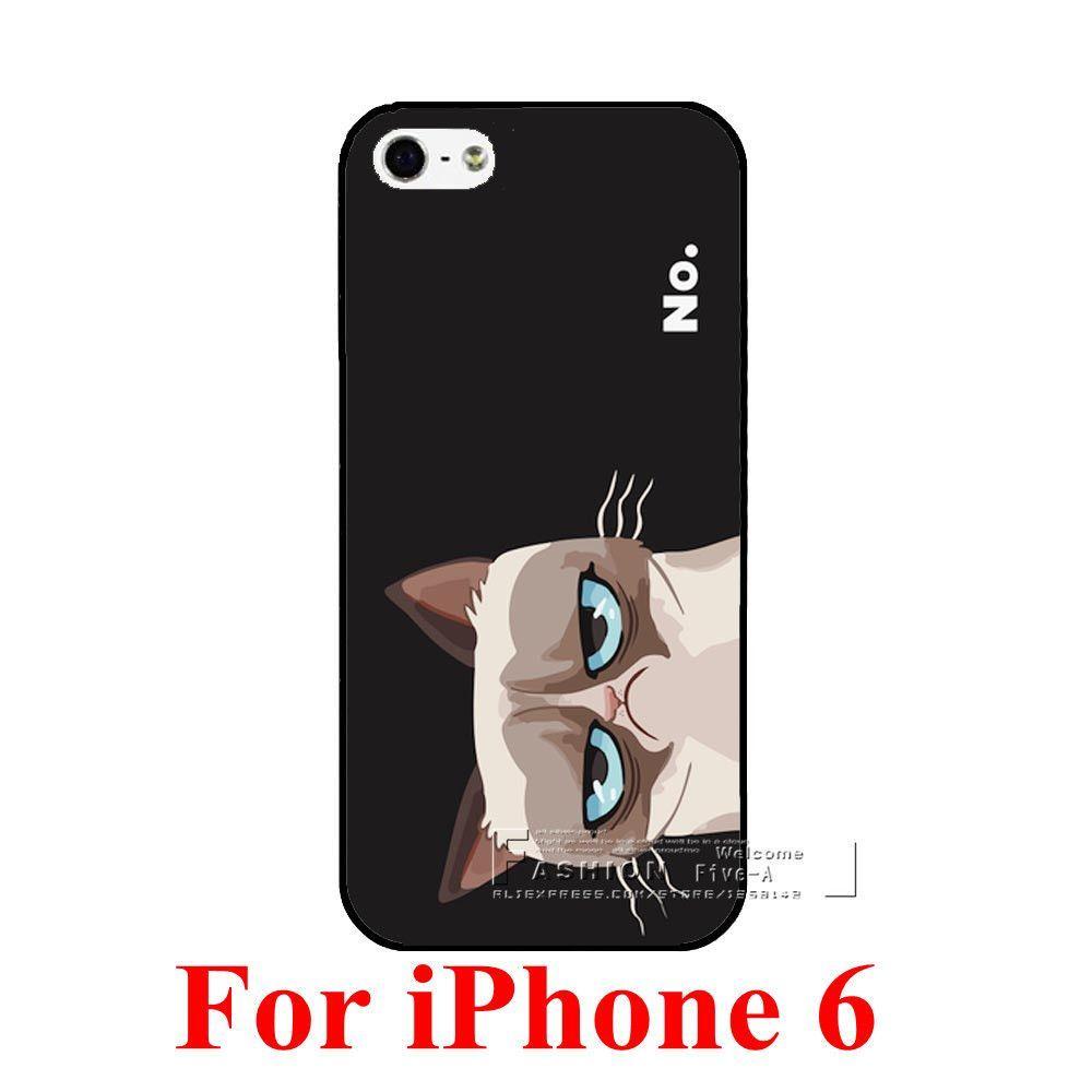 Cute Grumpy Cat IPhone Case for 4, 4S, 5, 5S, 6, 6 Plus