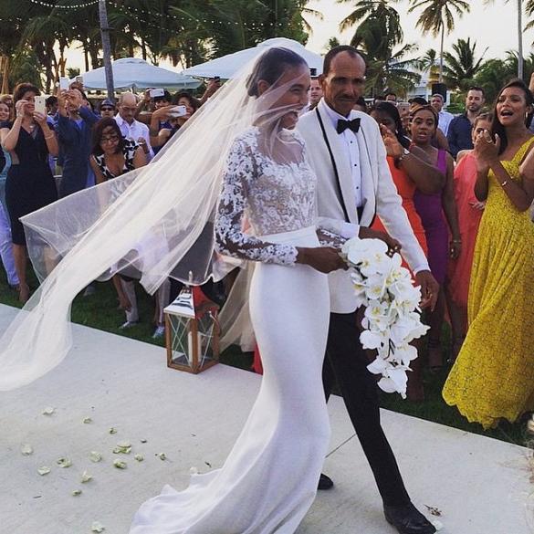 See a Victoria\'s Secret Model\'s Stunning Reem Acra Wedding Dress ...