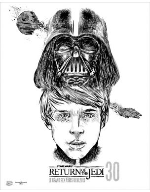 Return of the Jedi #Sérigraphie par Carlos Olmo