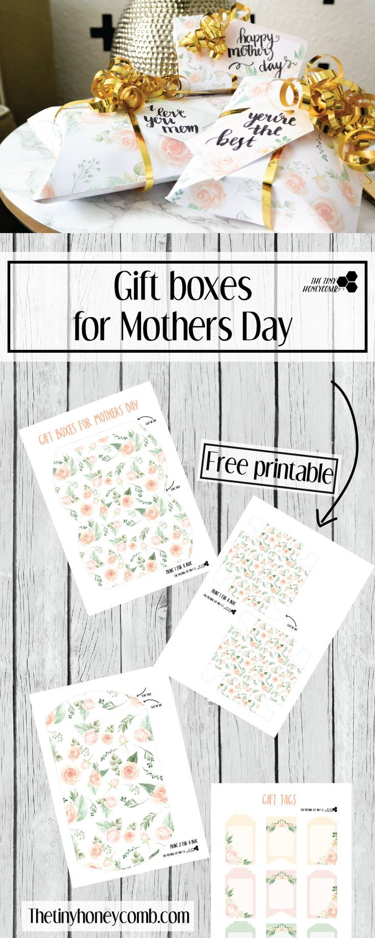 Mothers Day Gift Box And Tags Free Printables Free Printable