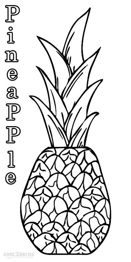 printable pineapple coloring pages for kids cool2bkids