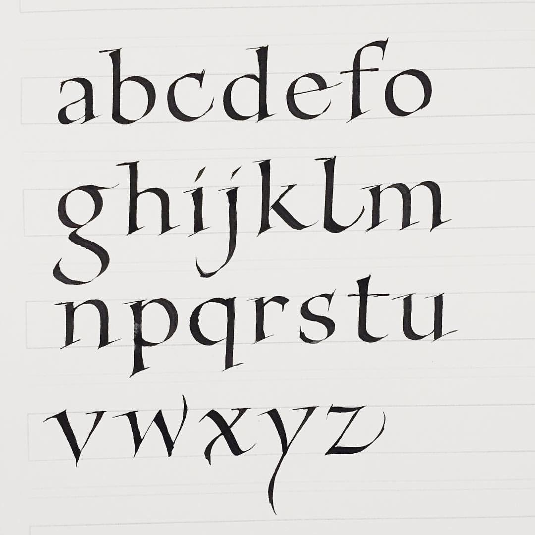 Study Foundation Hand Alphabet Retouch On The Serifs