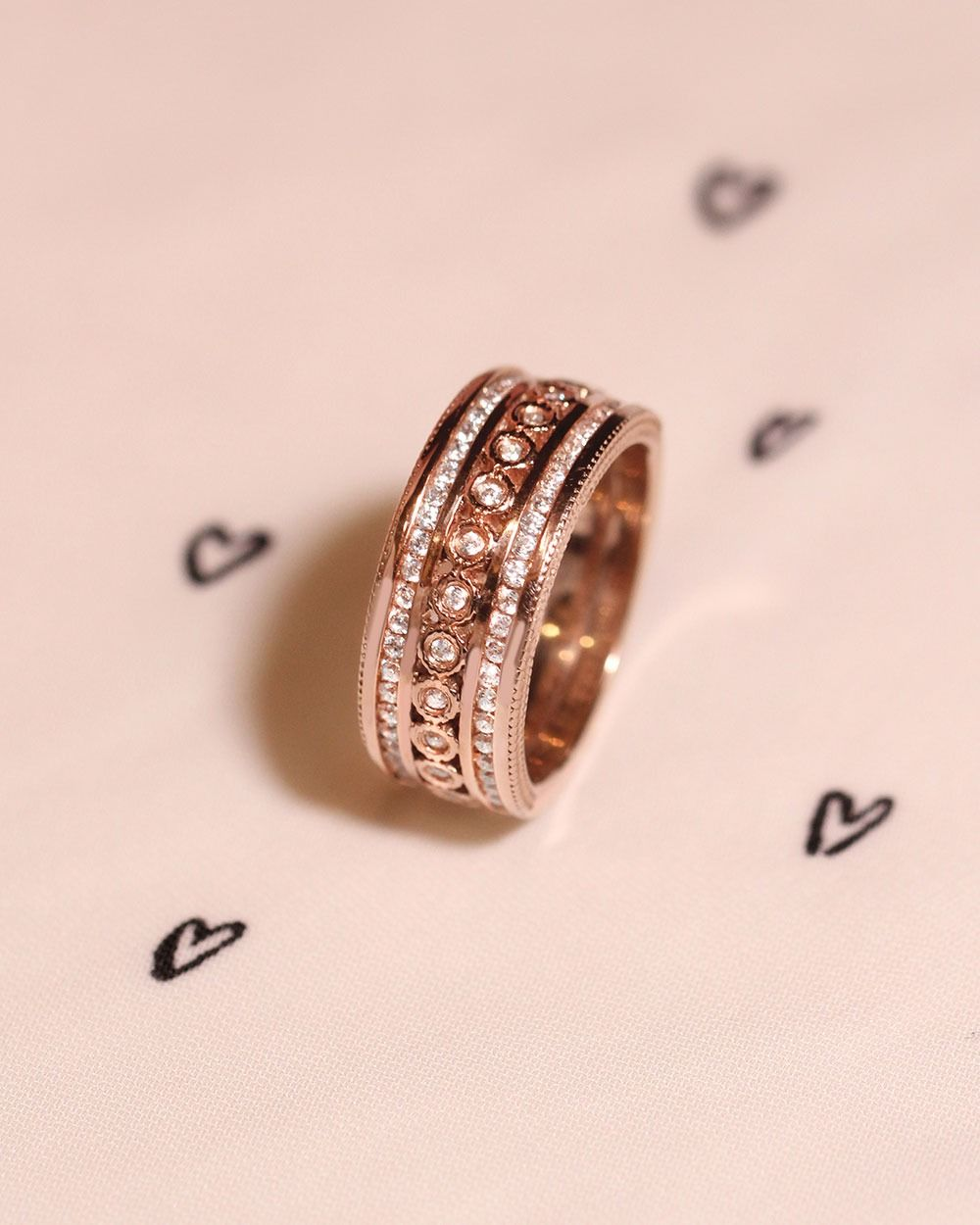 Florentine Wedding BandPictured in 14K rose gold. | Everything ...