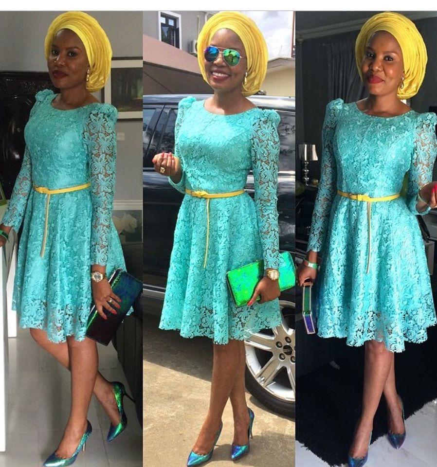 Creative Lace Short Gown Style - DeZango Fashion Zone ~African ...