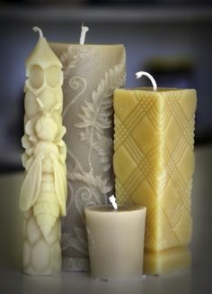 Pretty beeswax candles