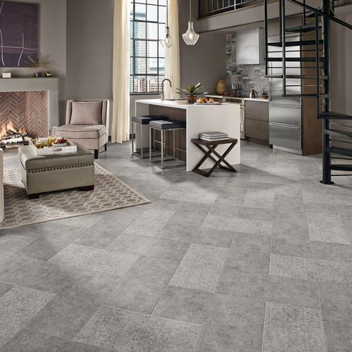 Modern Floor Tile Living Room Design Ideas, Remodels U0026 Photos | Houzz