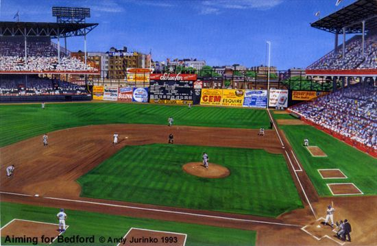 Ebbets Field History Photos And More Of The Brooklyn Dodgers Former Ballpark Baseball Park Major League Baseball Stadiums Mlb Stadiums