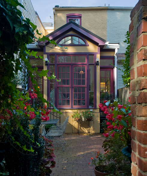 Home Exterior Design Tool: Purple Front Doors, Cottage