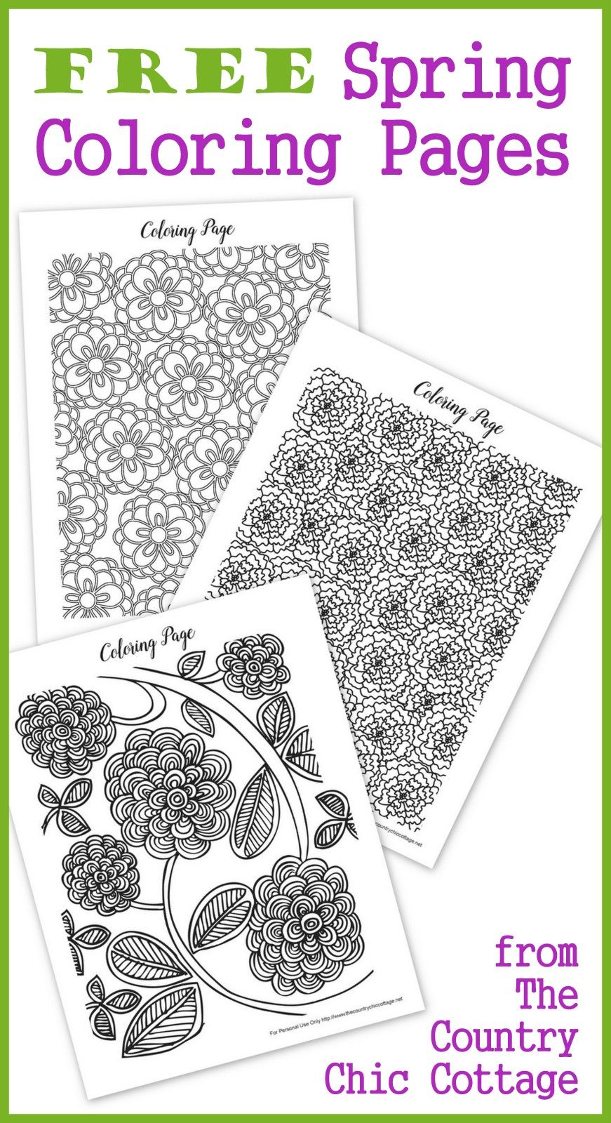 Free spring coloring pages for adults coloring pages pinterest