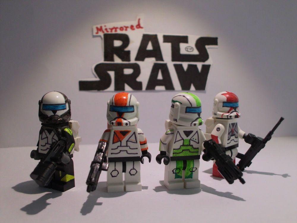 lego star wars minifigures - clone custom troopers - commander