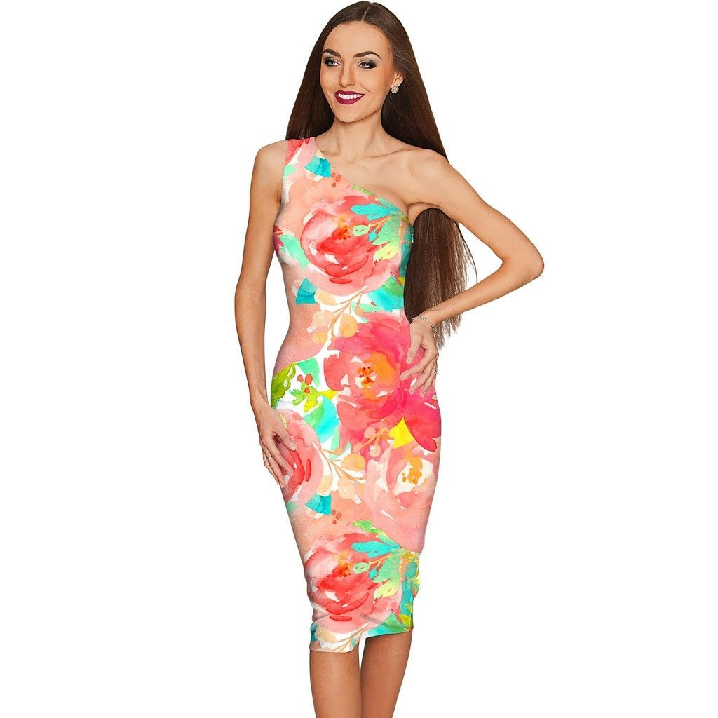 Good Idea Layla Floral Summer Bodycon Eco Dress - Women