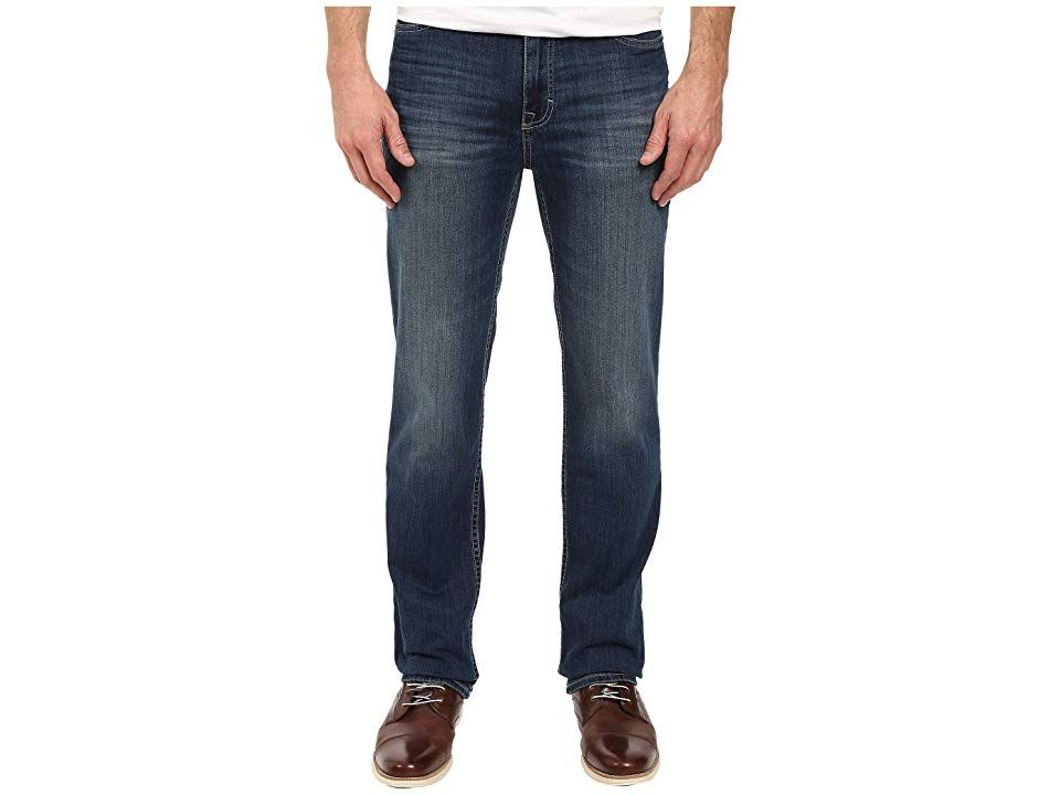 Calvin Klein Jeans Straight Leg Jean in Authentic Blue Wash Authentic Blue Mens Jeans Fabricated from a cotton denim with a hint of stretch Classic straight leg design wi...