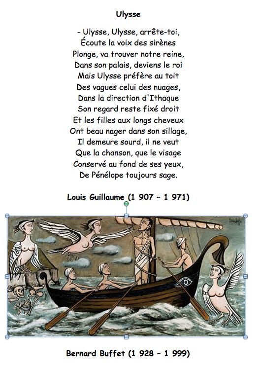 Louis Guillaume 1907 1971 Ulysse Mythologie Poesie Ce2 Poesie Cm1