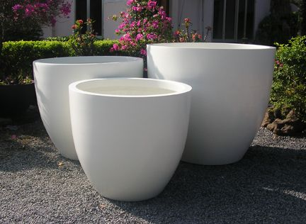 Extra Large Planter Pots Royal White Extra Large Fiberglass