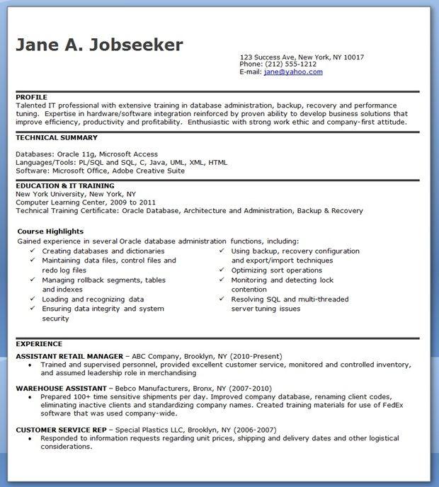 entry level system administrator resume sample