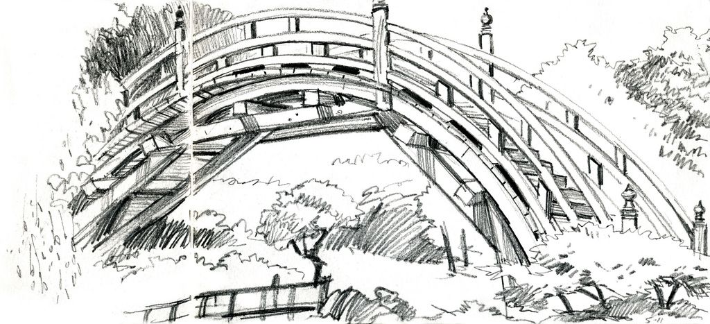 Charmant Urban Sketchers: Japanese Garden