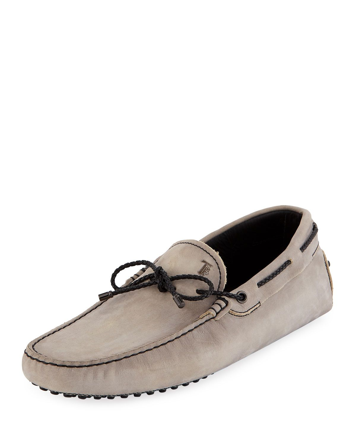 ecac32095a4 TOD S MEN S GOMMINI NUBUCK DRIVERS WITH BRAIDED TIE