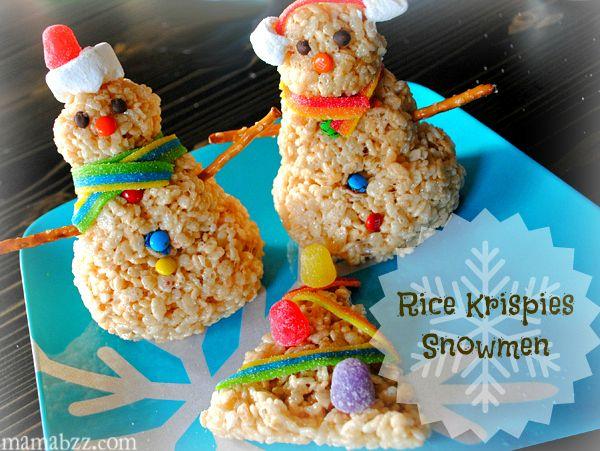 Rice Krispies Snowmen and Christmas Tree   Food Art/Fun ...