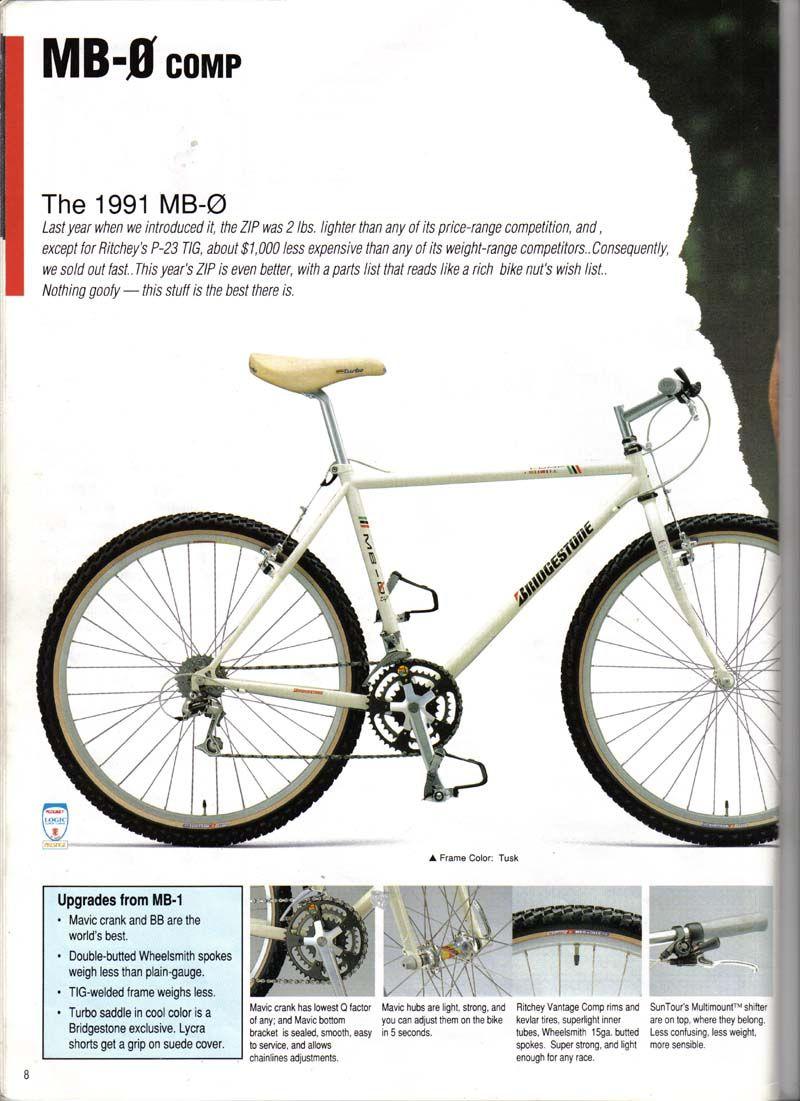 Bridgestone Bicycle Catalogue 1991 08 Vintage Mountain Bike Bridgestone Bicycle