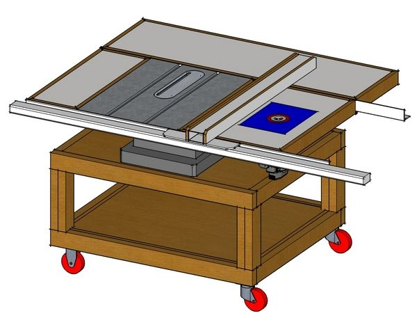 Custom Made Table Saw Stands | Plans For Table Saw Stand?   Kreg Jig Owners