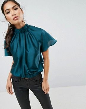 42d241d9806ef0 Shirts | Women's shirts & blouses | ASOS | NEW BODIES: Tops | Satin ...