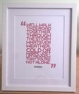 Eminem Not Afraid Music Song Typography Lyrics Poster Framed Gift ...
