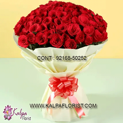 Majestic 50 Red Roses Bouquet Send Flowers To Punjab Send Flowers Online Buy Flowers Online Online Flower Delivery