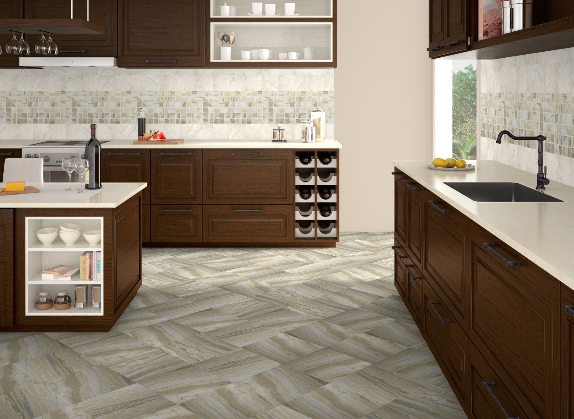 GPS Bracciano in Oxide and Truffle // Arley Evolution Tile ...
