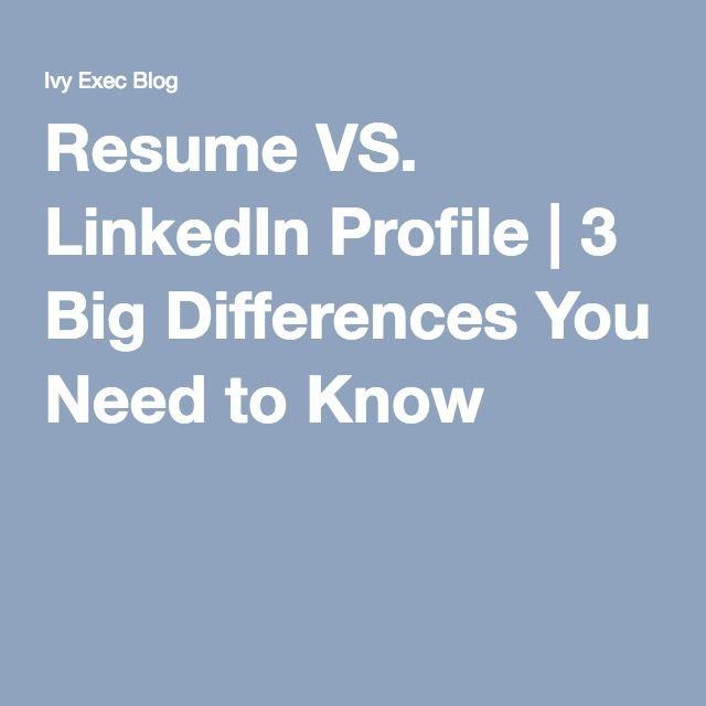 resume vs  linkedin profile