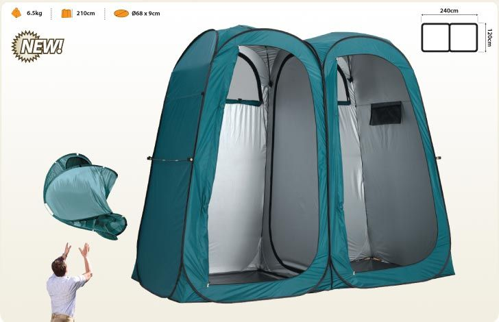 Oztrail Double Pop Toilet Shower Tent | Camp Ovens
