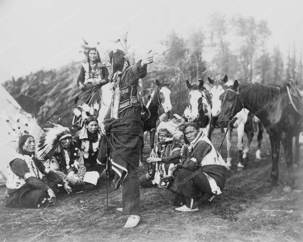 Dakota Indians with Horses 1900s Vintage 8x10 Reprint of Old Photo | eBay