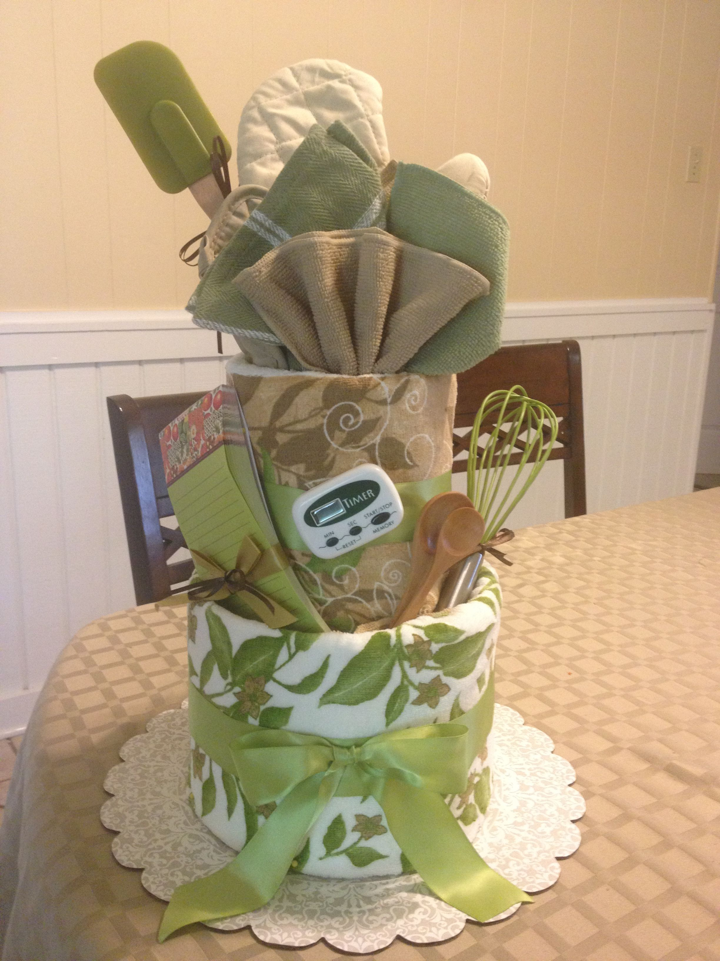 Bridal shower towel cake (just one of many examples
