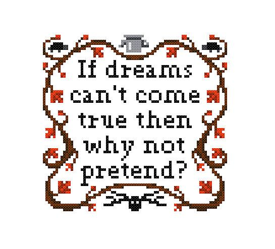 Free Over the Garden Wall Cross Stitch Pattern Sampler by Cross Stitch Quest