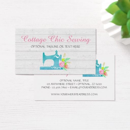 Shabby cottage chic sewing machine rustic wood business card shabby cottage chic sewing machine rustic wood business card vintage branding marketing by cyanskydesign on reheart Image collections