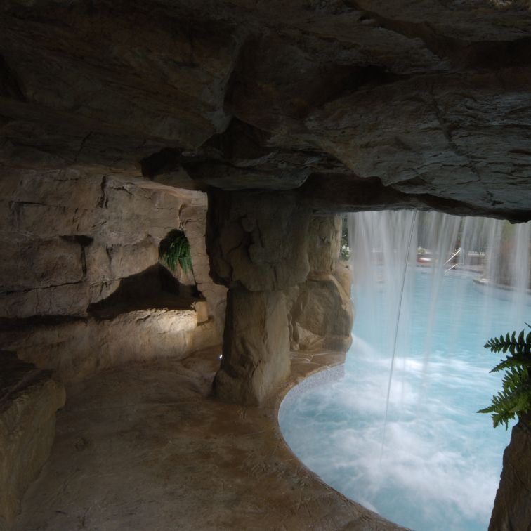 Gorgeous Cave Under Waterfall Backyard Pool Waterfall Tropical Pool