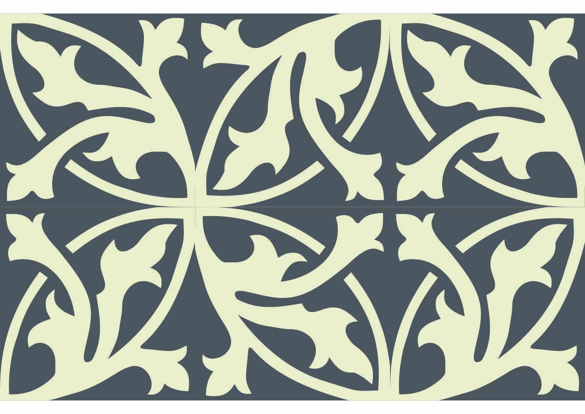 Carreaux Ciment Art Nouveau Ref 297 Chez Ateliers Zelij Motifs