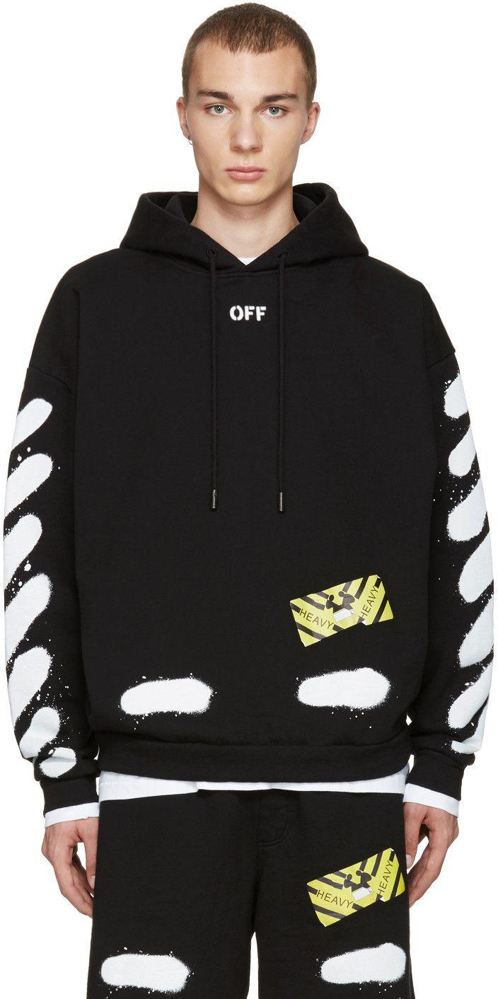 off white black diagonal spray hoodie premium streetwear pinterest off white off white. Black Bedroom Furniture Sets. Home Design Ideas