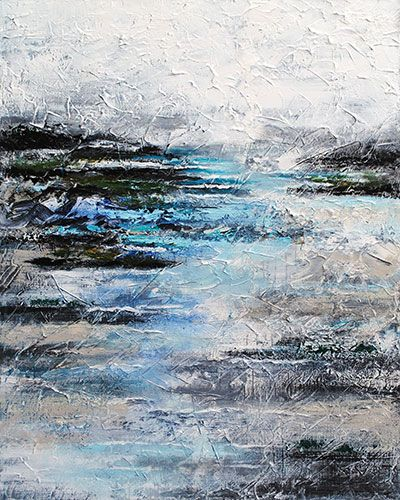 """""""Deep Within"""" 60x48"""" Mixed Media on Canvas by Tiffany Miller. Available at Crescent Hill Gallery in Mississauga, ON"""