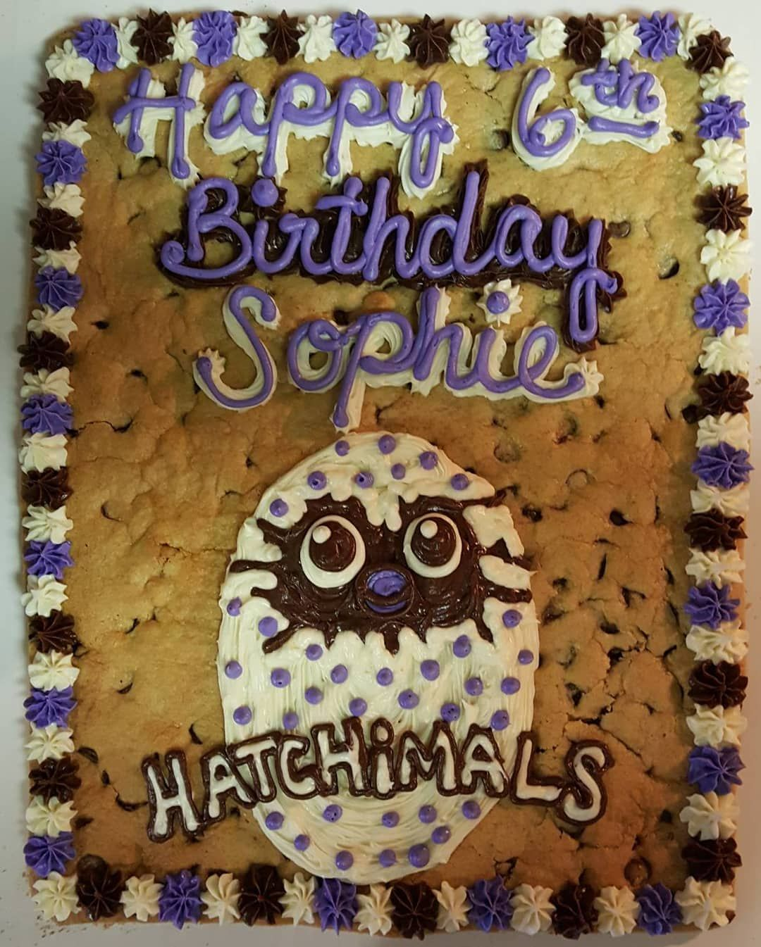 Hatchimal Cookie Cake For A Family Birthday Party FREE Delivery In Austin TX