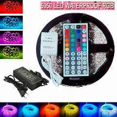 30 Off 5m Flexible Waterproof Led Strip Light Rgb Rope Smd 5050 44 Key Remote 12v Power With Retail Led Strip Lighting Waterproof Led Led Flexible Strip
